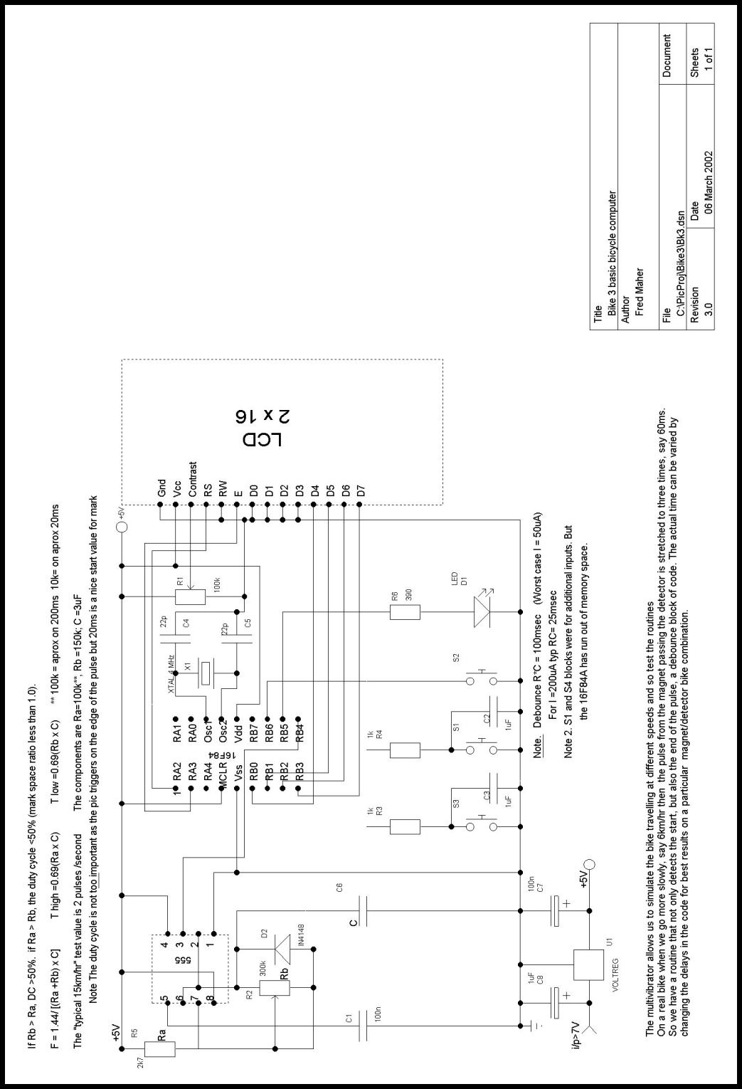 Simple Bike Computer Tutorial Electric Circuit Diagram Of The Electrical Fig 5 Theoretical Dev System
