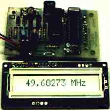 Частотомер регистрирует частоты с разрешением 1 Гц при амплитуде измеряемой частоты до 100 Гц